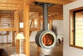 Poêle à bois moderne et design